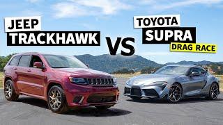 707hp Jeep Trackhawk vs. Tuned 2020 Supra Showdown // This vs. That