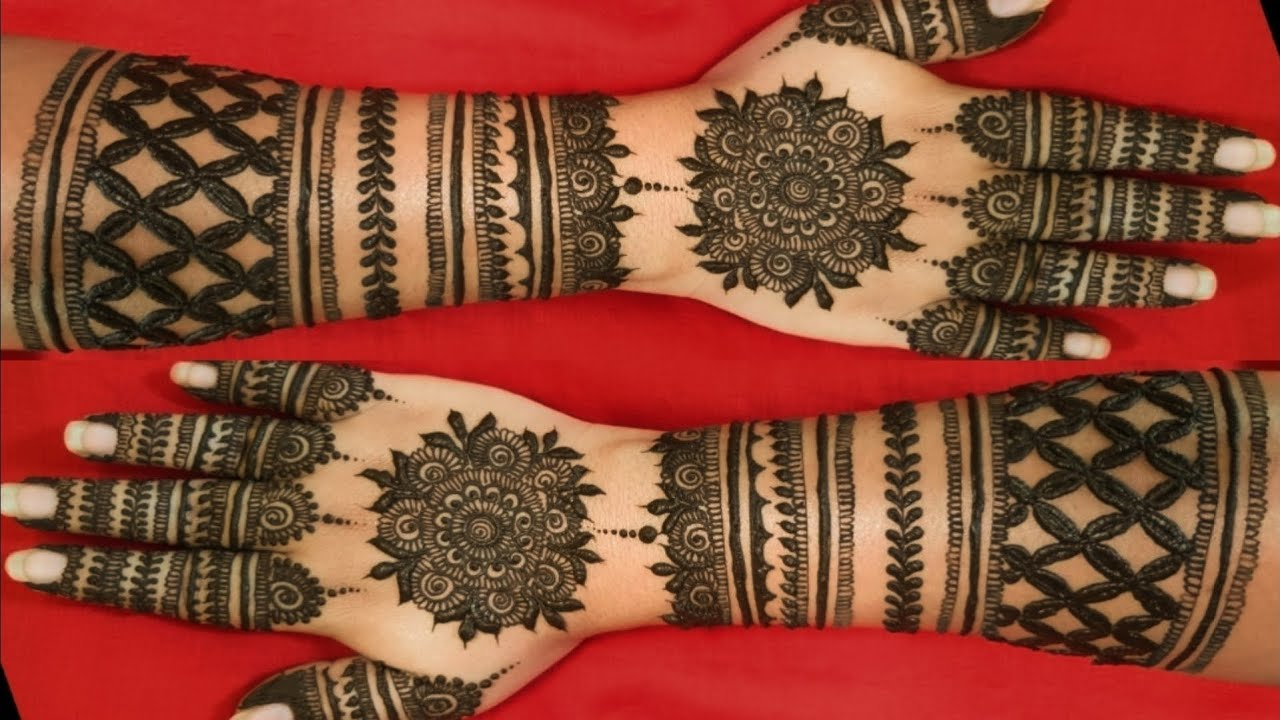 EASY DULHAN BACK HAND MEHENDI DESIGNS || BEAUTIFUL BRIDAL FULL HANDS WEDDING HENNA MEHNDI DESIGN