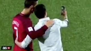 مشجع يقتحم الملعب من اجل كريستيانو رونالدو – البرتغال ×  جزر الفارو ( 2016 )
