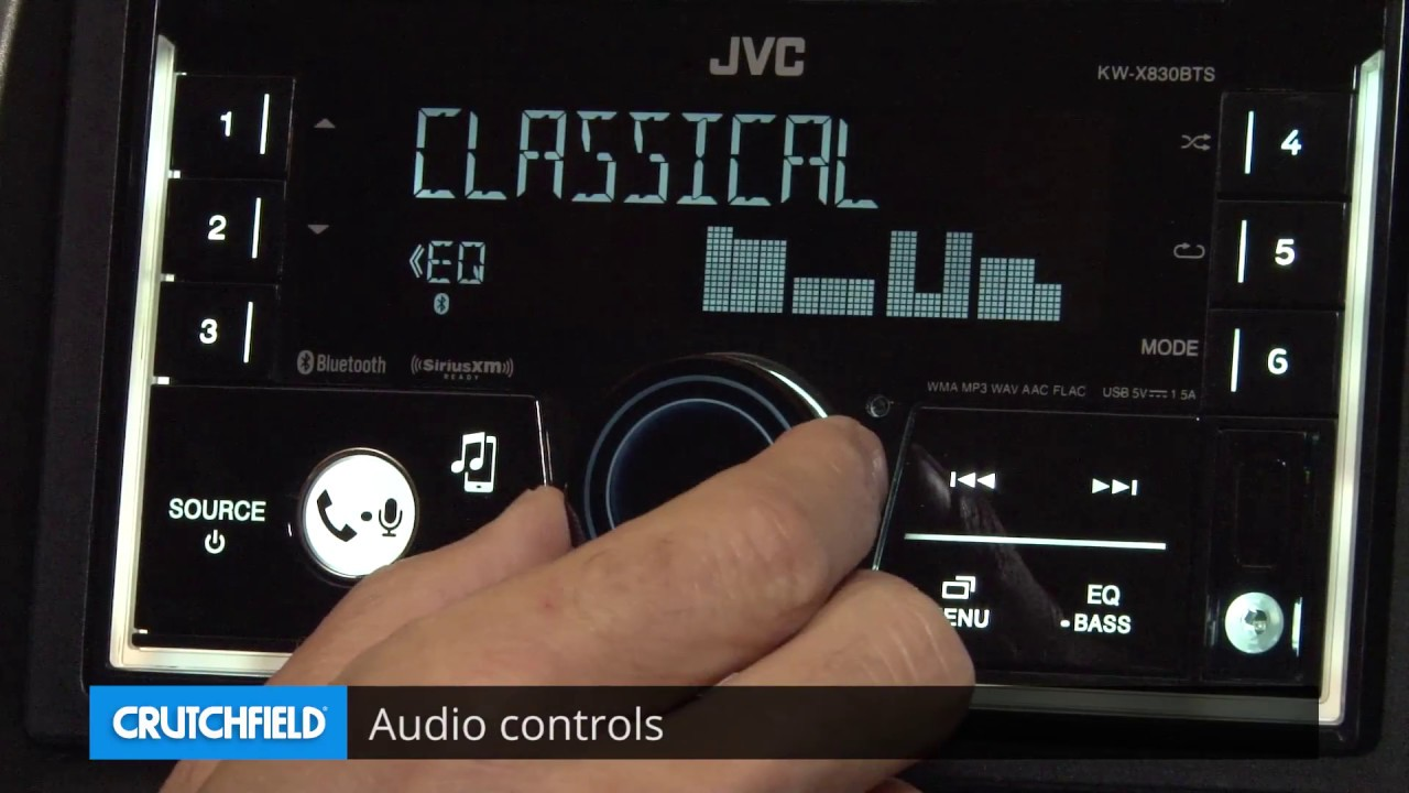 JVC KW-X830BTS Display and Controls Demo | Crutchfield Video on