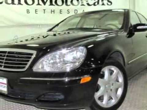 2004 mercedes benz s class s500 4matic sedan bethesda. Black Bedroom Furniture Sets. Home Design Ideas