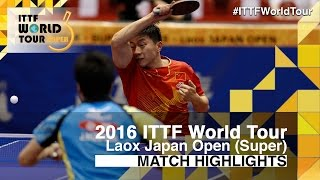 2016 Japan Open Highlights: Ma Long vs Jun Mizutani (1/4)