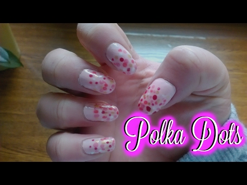 Valentine's Day Nail art Tutorial  Polka Dots  CutePatzie
