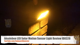 Idealeben LED Solar Motion Sensor Light Review ID8320