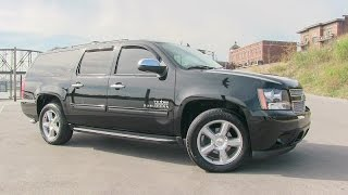 2011 Chevy Suburban Texas Edition blacked-out fully loaded SUV walk-around tutorial video