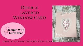 Double Layered Window Card