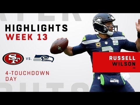 Russell Wilson Tosses 4 TDs vs. 49ers!