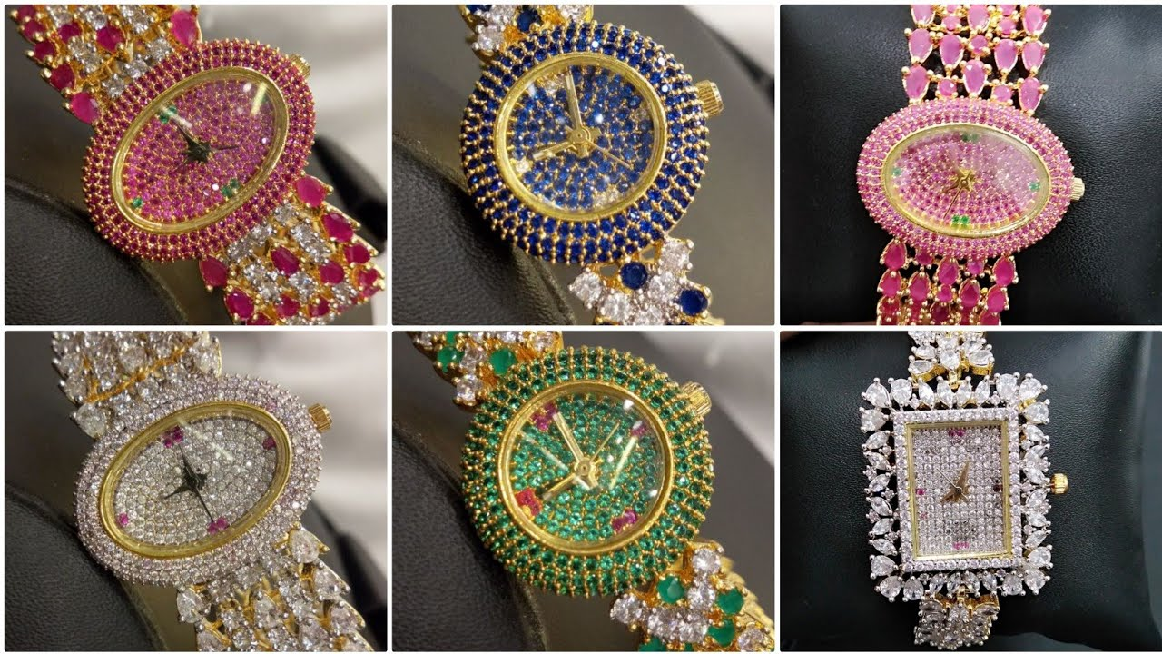 Watch Crystal Watches For Women Designer Ladies Crystal Watches With Price Nafees Collection Youtube