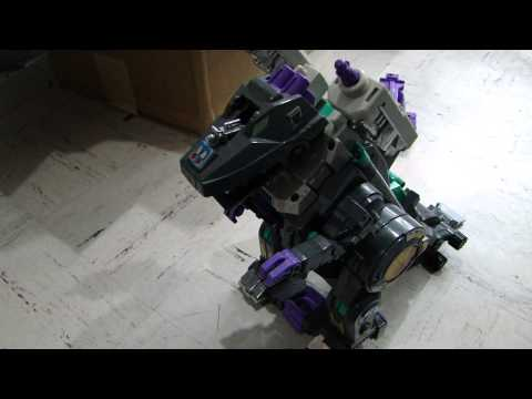 TRYPTICON Transformers Decepticon city base walks!
