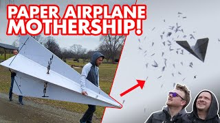 Attempting to Drop Hundreds of Paper Airplanes from the World's Largest Paper Airplane