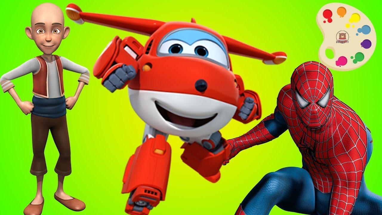 örümcek Adam Harika Kanatlar Keloğlan Boyama çocuklar Için Renkleri
