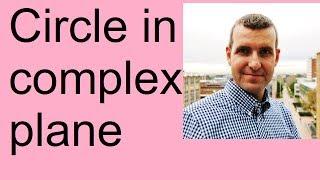 Cirkel in het Complexe Vlak
