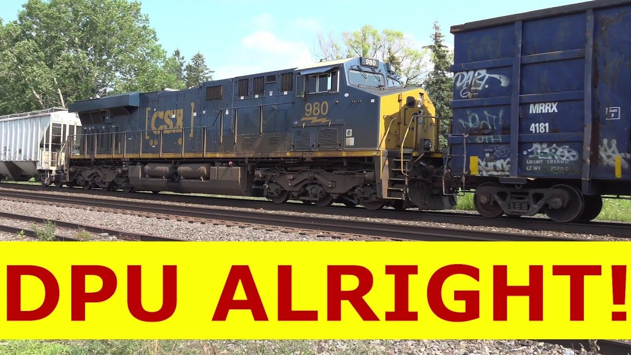 I Was Filming A CSX Train and All Of A Sudden! WOW! just Wow! A LITTLE Hazard of Railfanning! DPU's!