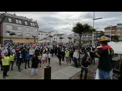Nueva concentración en San Cibrao por el futuro de Alcoa