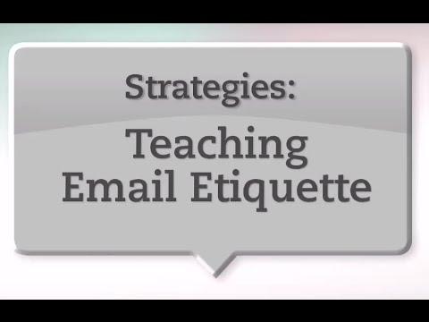 Teaching Strategies Teaching Email Etiquette YouTube