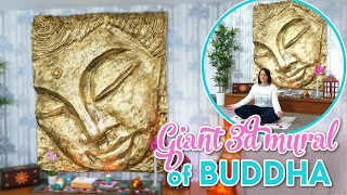 The greatest craft of my life - giant buddha 3D mural diy