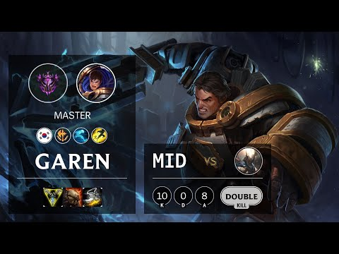 Garen Mid vs Pantheon - KR Master Patch 10.16
