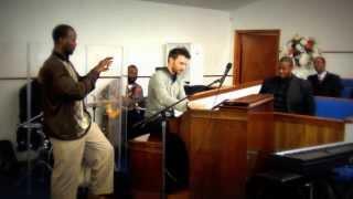 damien cornelis jam at peace baptist church memphis 2014 gospel organ hammond b3 organ