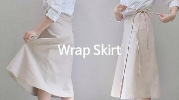 [Sewing Vlog] 내몸에 맞는 랩스커트 만들기 :: The Wrap Skirt that fits my body (Eng Sub)