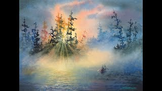 David R. Smith Watercolor Mist Demo.