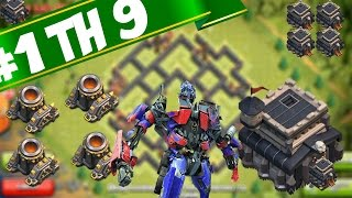 "BEST ""TH9 farming anti barch Base"" build 4 mortar Clash of clans after update 2015