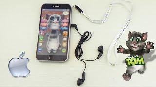 Телефон Кот Том Айфон - интерактивный с наушниками. Обзор игрушки. Toy phone review