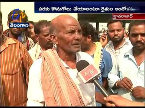 Farmers & merchants Strike Ends | After Official Talks | at Kothapet Fruit Market in Hyderabad