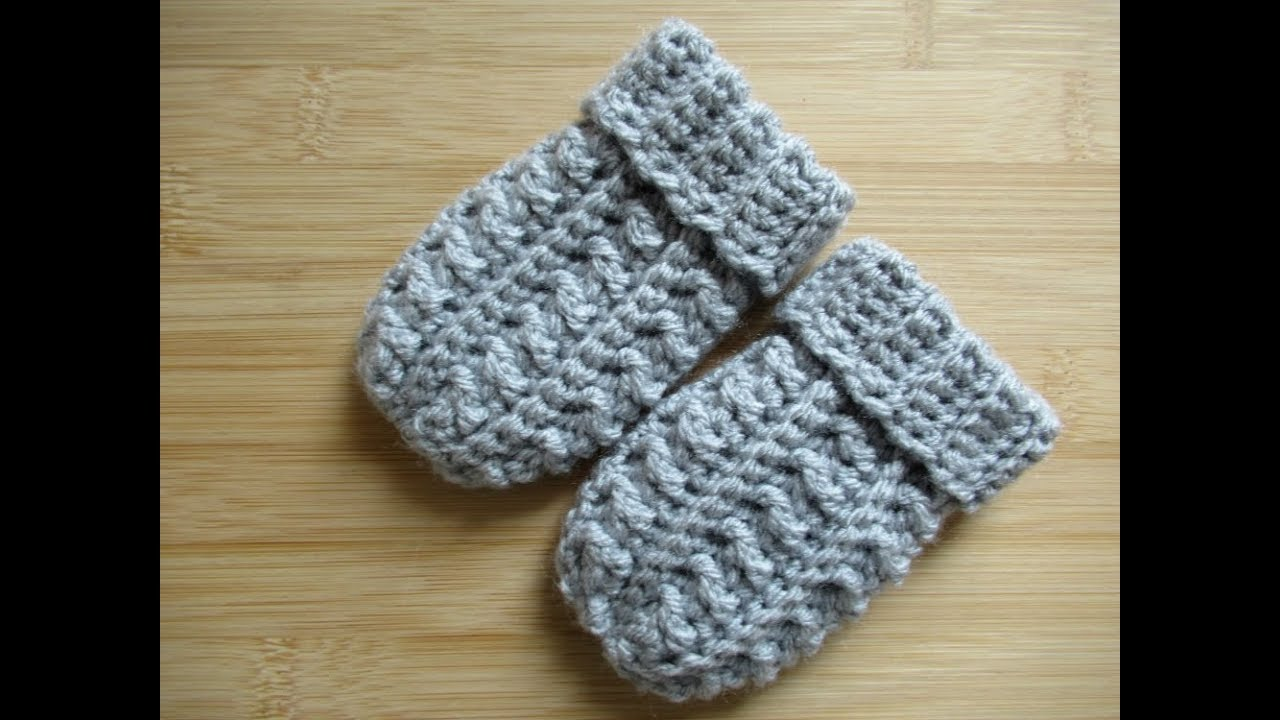 Crochet Baby Mittens Mitts Gloves Tutorial Happy Crochet Club Youtube