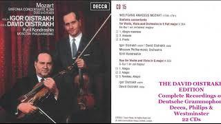 CD 15 David Oistrakh plays W A  Mozart Sinfonia Concertante K364,Duo for Violin & Viola K423