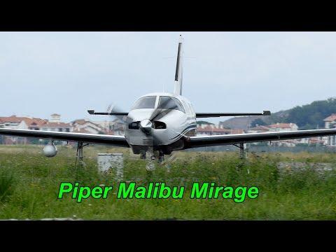 Piper Malibu Mirage takeoff Airport San Sebastián