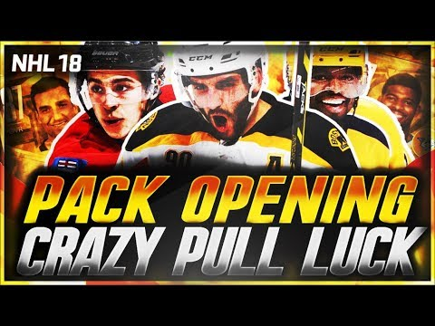 NHL 18 HUT - CRAZY PACK OPENING LUCK!!! (INSANE PULLS)