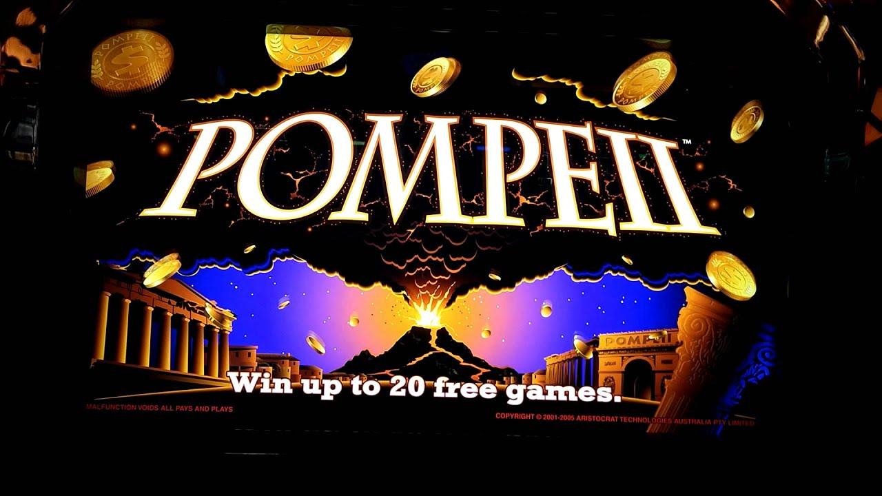 Pompeii slot machine jackpot