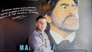 Napoli a Bruxelles , spunta il murale di Maradona