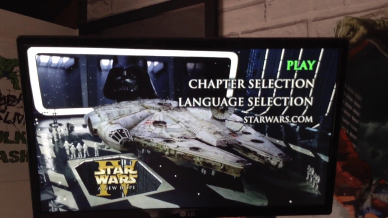 Opening To Star Wars Episode Iv A New Hope 2004 Uk Dvd Youtube