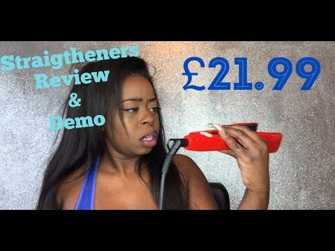 CHEAP  **£21.99 ** HAIR STRAIGHTENERS REVIEW || HOW I STRAIGHTEN MY HAIR