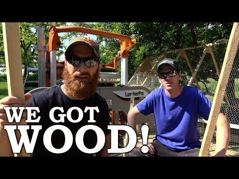 We Got INFINITE WOOD for TINY HOUSE! | FREE $1,000 BABY Chicken Tractor! | Norwood Portable Sawmill