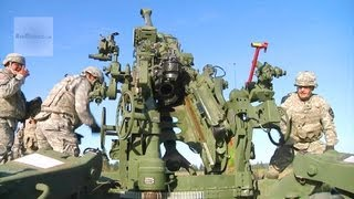Army Artillerymen M777 Howitzer Live Fire Exercise