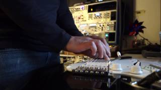 Guitar run through a EuroRack Synth - Robotic Sounds