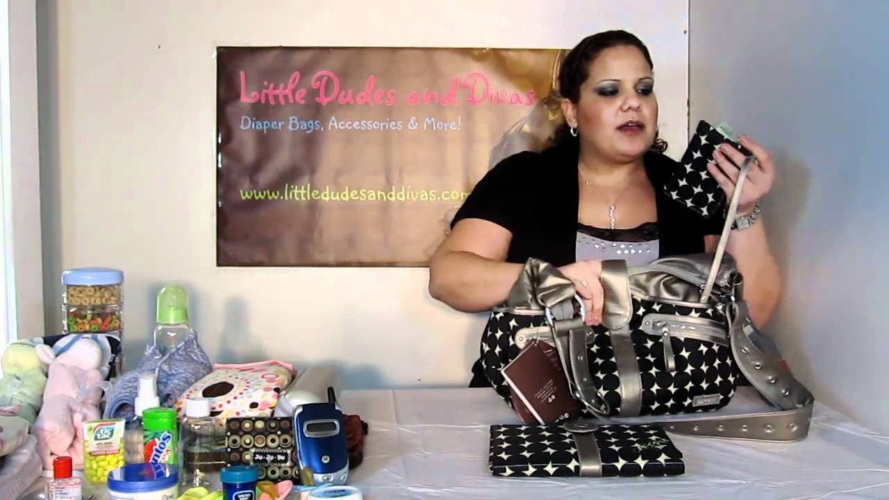 jj cole swag bag diaper bag features and details youtube. Black Bedroom Furniture Sets. Home Design Ideas