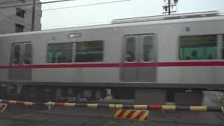 名鉄瀬戸線4000系(栄町行) 瓢箪山-小幡間の踏切 2019.7.14