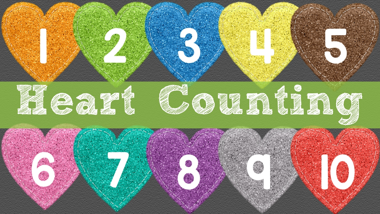 Heart Counting Numbers 1-10 For Toddlers and Preschool - YouTube