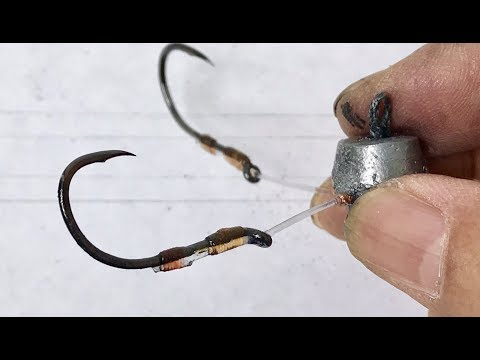 How To Make Touch Hooks(4 Hooks) اصنع خطافات اللمس - Làm Lưỡi Tứ Câu Chạm - Hacer Ganchos Táctiles