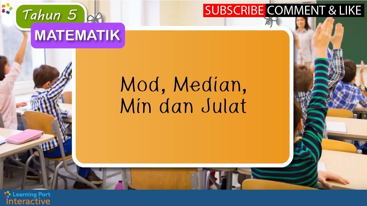 Tahun 5 Matematik Upsr Mod Median Min Dan Julat Youtube