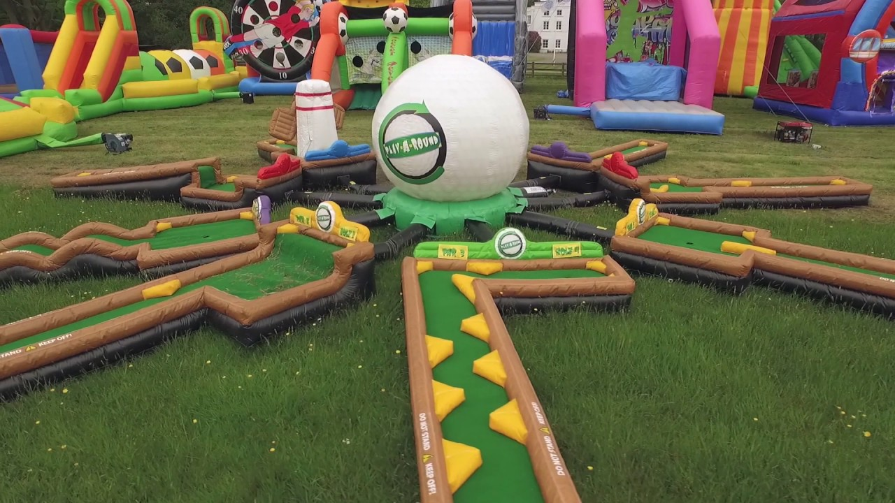 Inflatable 9 Hole Crazy Golf Course - YouTube