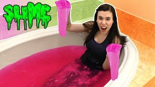 PINK SLIME BATH EXPERIMENT!!!