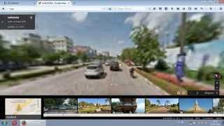 ແຜນທີ່ວິວຖະໜົນວຽງຈັນຈາກກູໂກ Google Maps Street View Vientiane, Laos