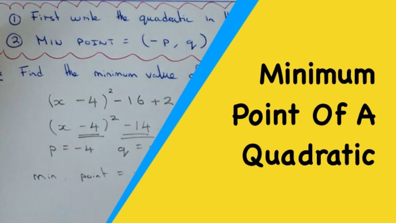 The Minimum Value Of A Quadratic Bypleting The Square (p,q)
