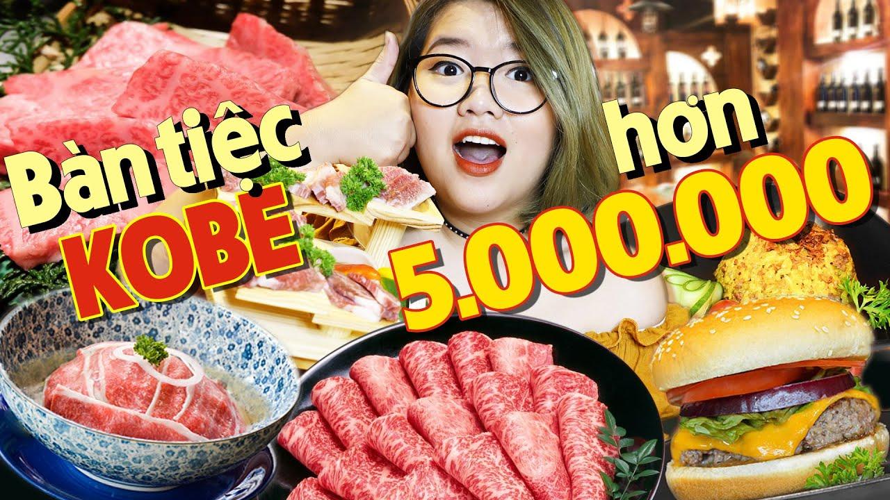 CHƠI SANG ĂN BÀN TIỆC BÒ KOBE HƠN 5,000,000: BURGER KOBE, XÔI KOBE, PHỞ KOBE... | THÁNH ĂN TV