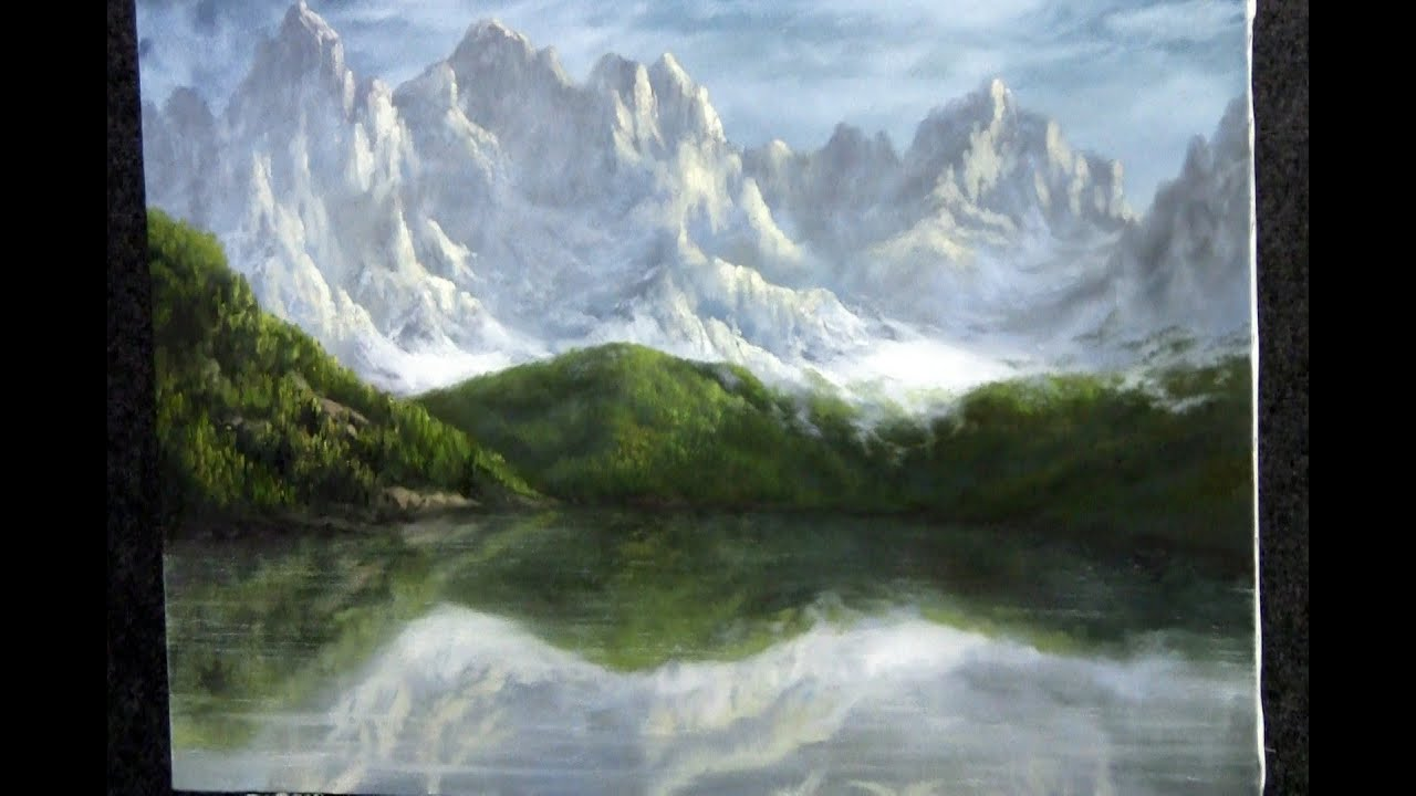 paint with kevin hill swiss mountains youtube