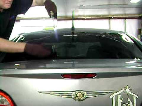 Tint back window Chrysler